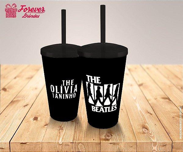 Copo Twister Beatles Preto Aniversário