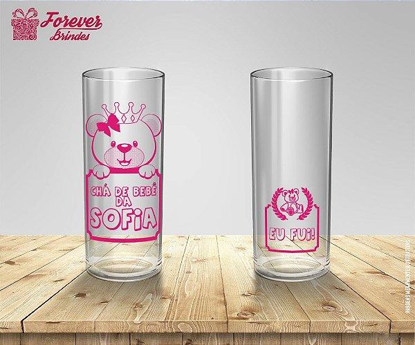 Copo Long Drink Chá De Bebê Rosa