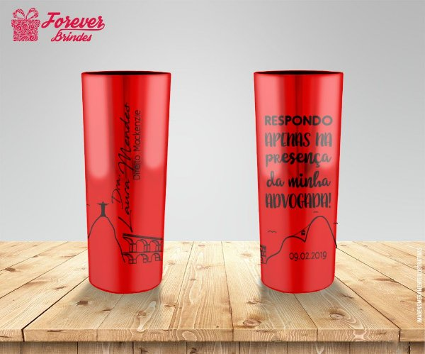 Copo Long Drink Metalizado Direito RJ