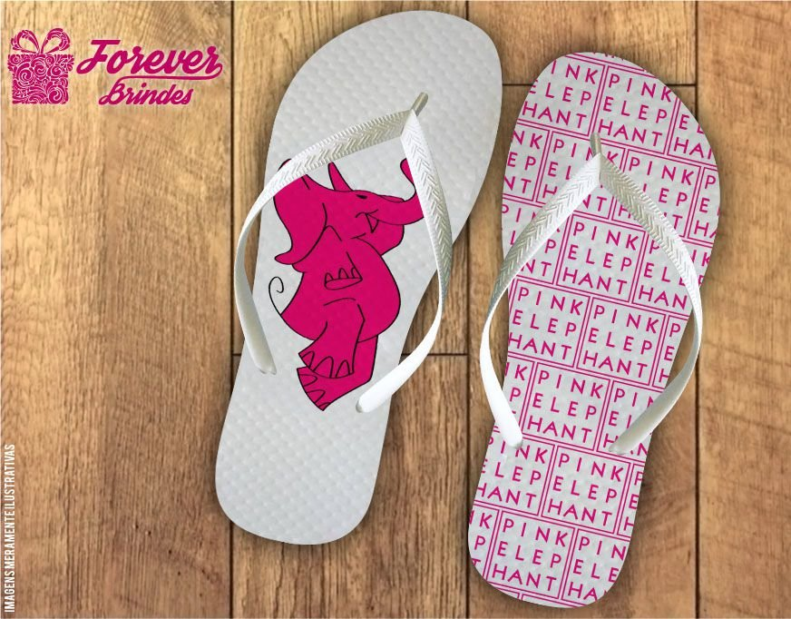 Chinelo Personalizado Pink Elephant