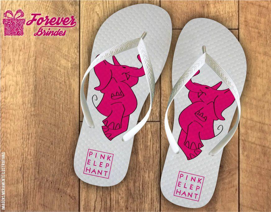 Chinelo Personalizado Pink Elephant Empresarial