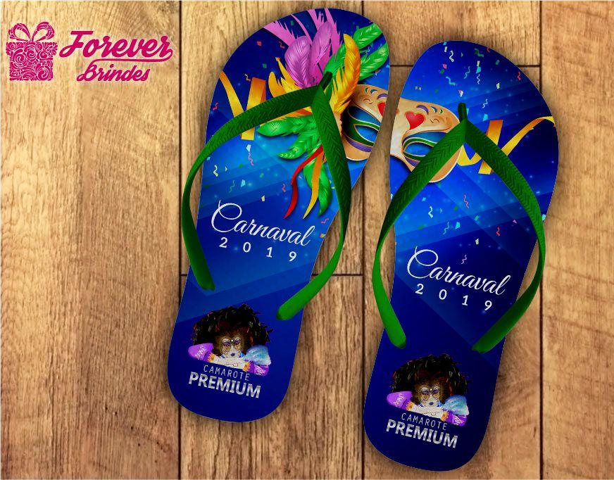 Chinelo Bloco de Carnaval Personalizado