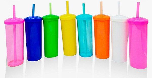 Copo Long Drink Com Tampa E Canudo - Sem Personalização