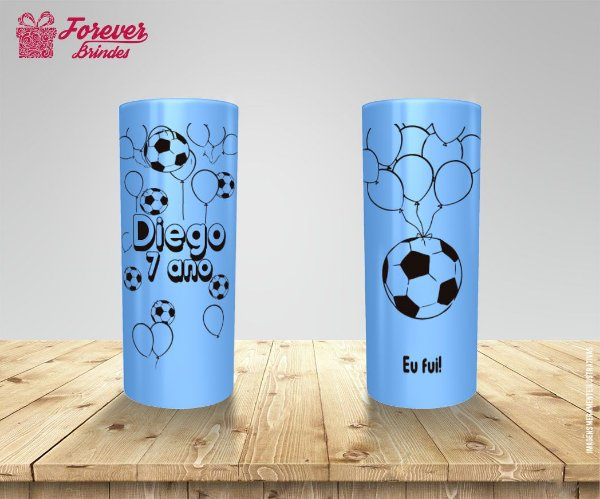 Copo Long Drink Aniversário Futebol