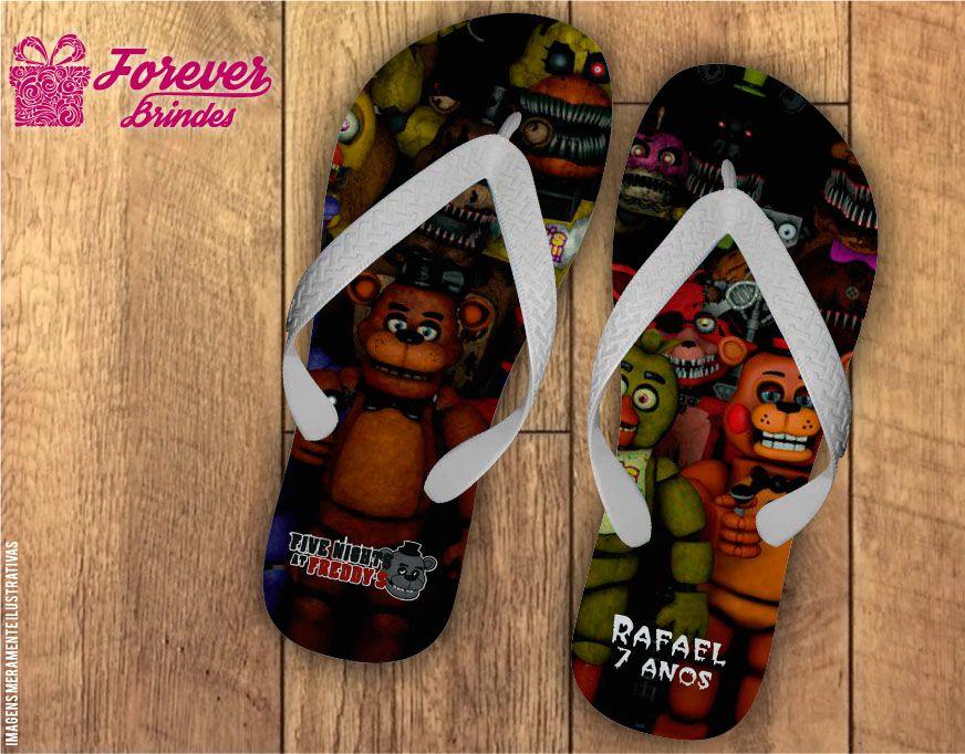 Chinelo De Aniversário Five Nights at Freddy's