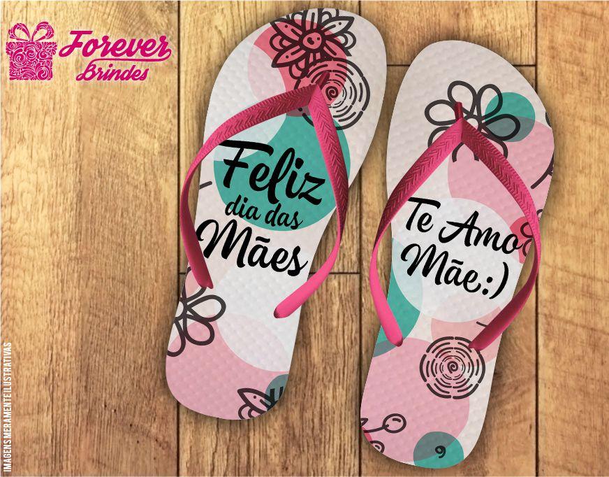 Chinelo Dia Das Mães Rosa Claro