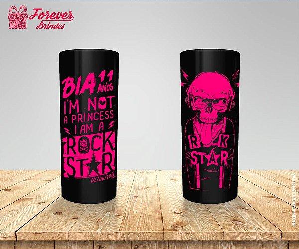 Copo Long Drink Aniversário Rock Star