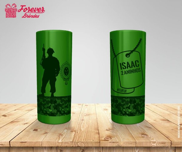 Copo Long Drink Personalizado Do Exército