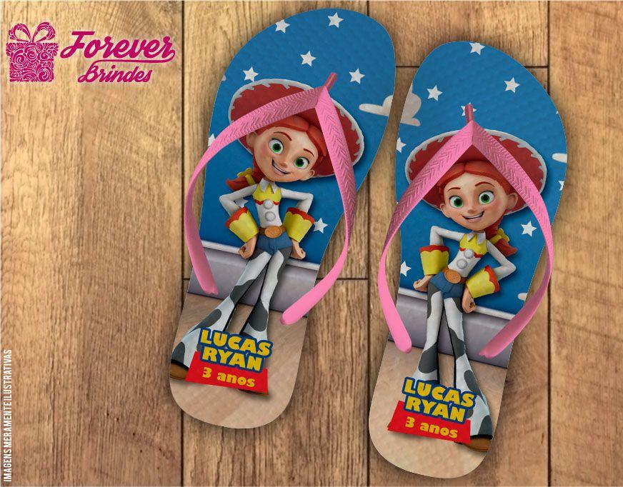 Chinelo Personalizado Infantil do Toy Story