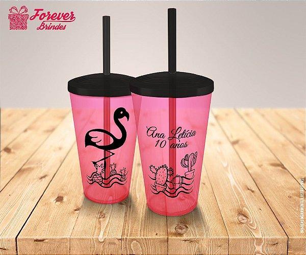 Copo Twister De Aniversário Flamingo