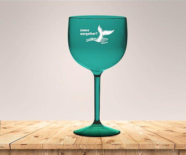 Taça Gin Verde Aniversário De Sereia