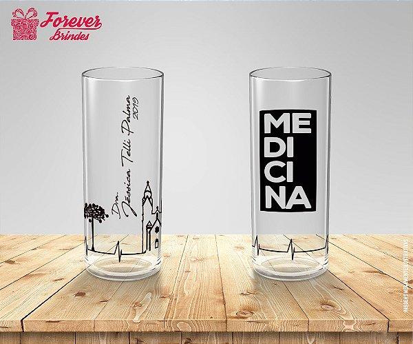 Copo Long Drink Formatura de Medicina