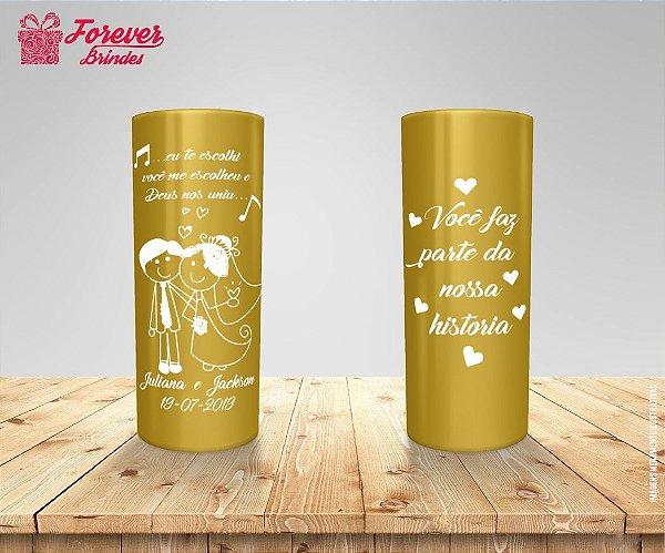 Copo Long Drink De Casamento Com Frase