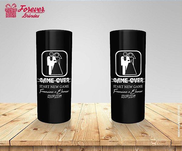 Copo Long Drink De Casamento Game Over