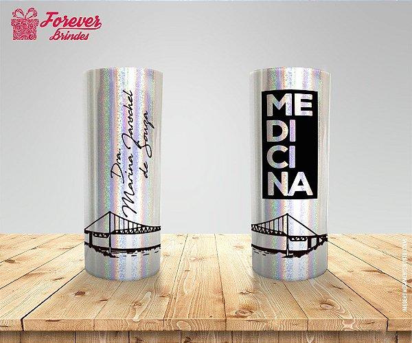 Copo Long Drink Holográfico De Medicina