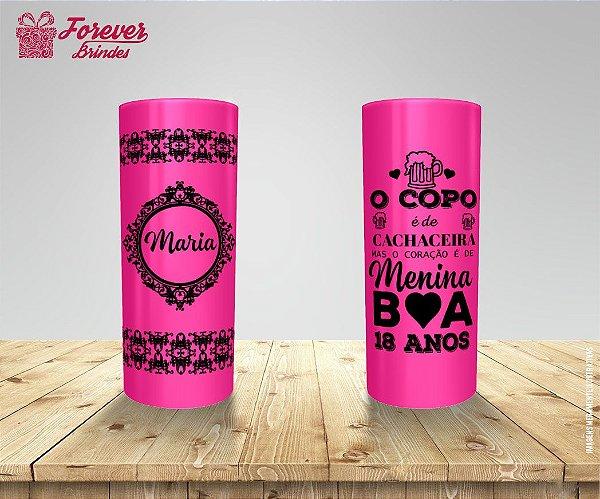 Copo Long Drink Aniversário 18 Anos Pink