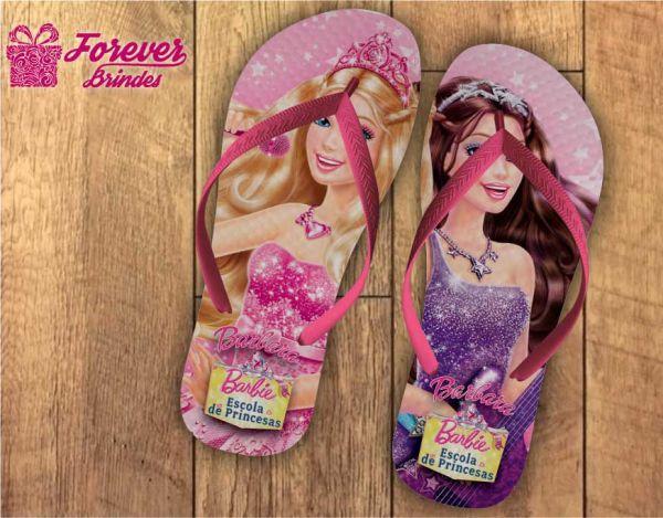 Chinelo Personalizado De Aniversário Barbie