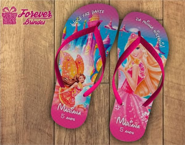 Chinelo Personalizado Barbie