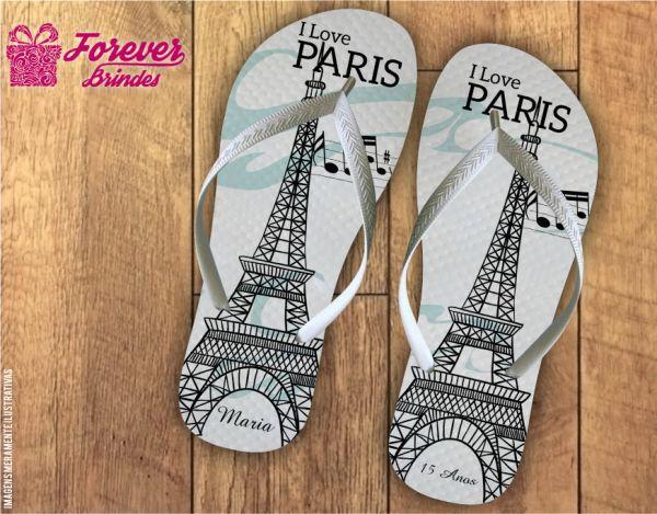 Chinelo Aniversário Paris