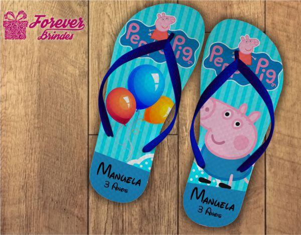Chinelo De Aniversário Da Peppa Pig