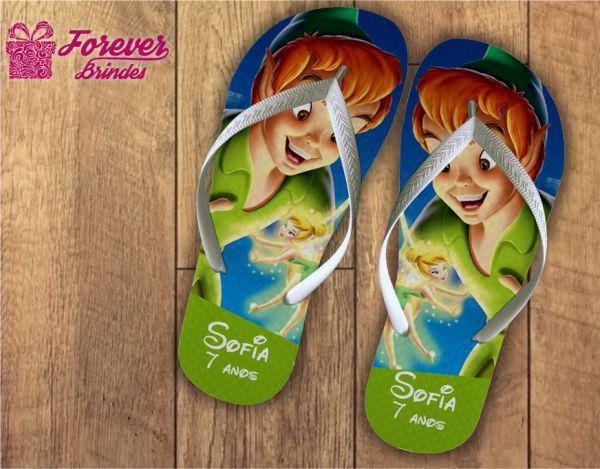 Chinelo Personalizado Aniversário Do Peter Pan