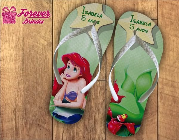 Chinelo Personalizado Da Princesa Ariel