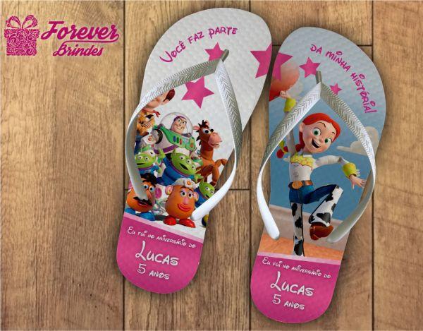 Chinelo Personalizado Do Toy Story Aniversário