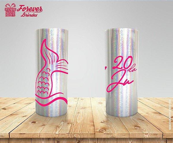Copo Long Drink Holográfico De Sereia
