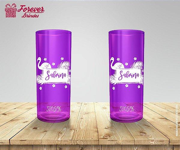 Copo Long Drink Personalizado Flamingo
