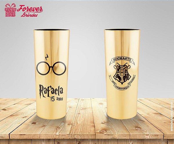 Copo Long Drink Metalizado Do Harry Potter
