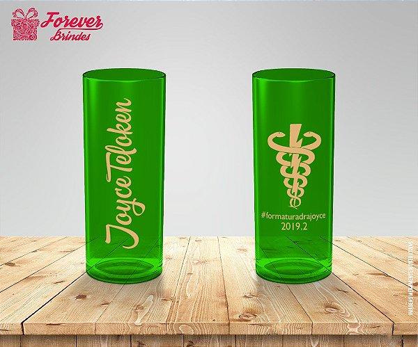 Copo Long Drink Verde Personalizado De Fisioterapia
