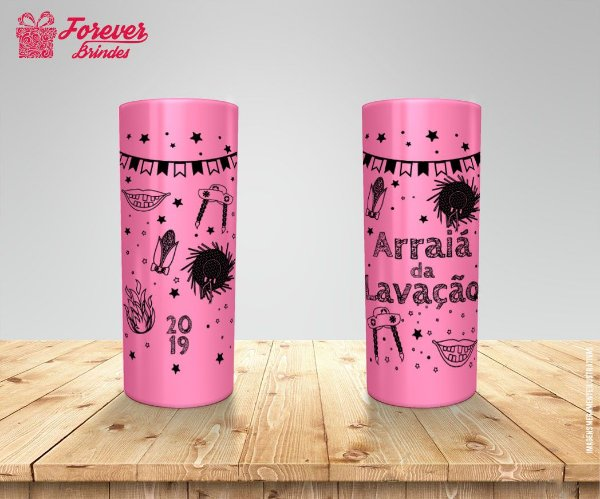 Copo Long Drink Colorido Personalizado De Festa Junina