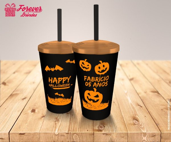 Copo Twister De Aniversário Halloween