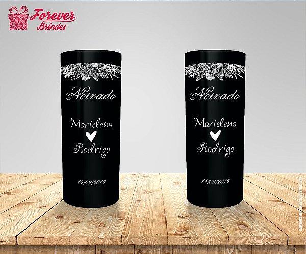 Copo Long Drink Preto Personalizado De Casamento