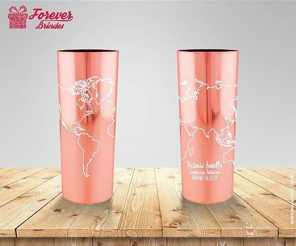 Copo Long Drink Metalizado Rose Comércio Exterior