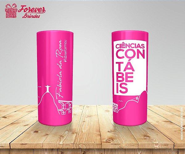 Copo Long Drink Rosa Personalizado De Ciências Contábeis