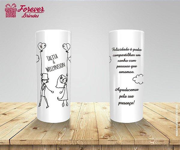 Copo Long Drink Branco Personalizado Chá de Panela
