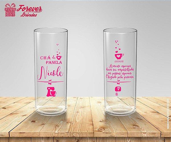 Copo Long Drink Personalizado Com Rosa De Chá de Panela