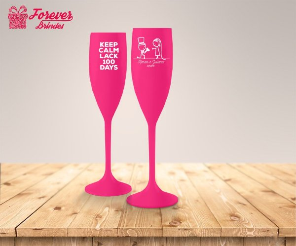 Taça De Champanhe Rosa De Casamento