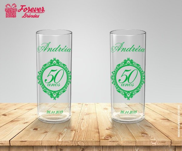 Copo Long Drink Personalizado Aniversário 50 Anos