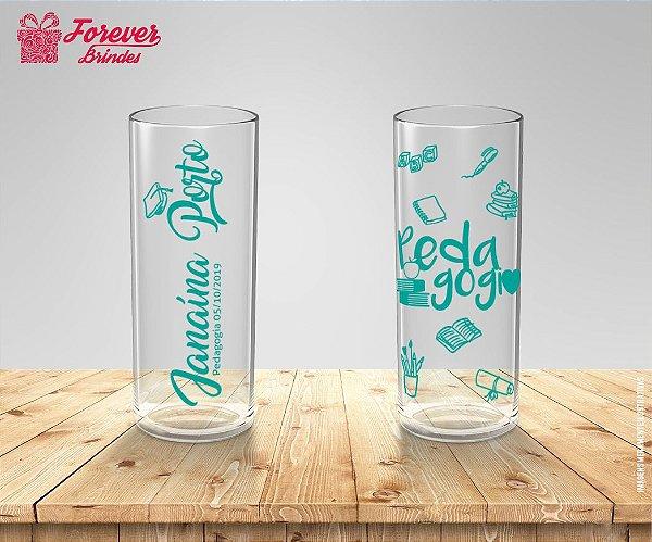 Copo Long Drink Personalizado Com Tiffany De Pedagogia