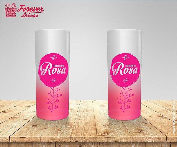 Copo Long Drink Degradê Outubro Rosa