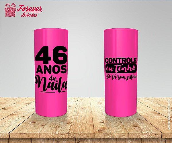 Copo Long Drink Rosa De Aniversário Com Frase