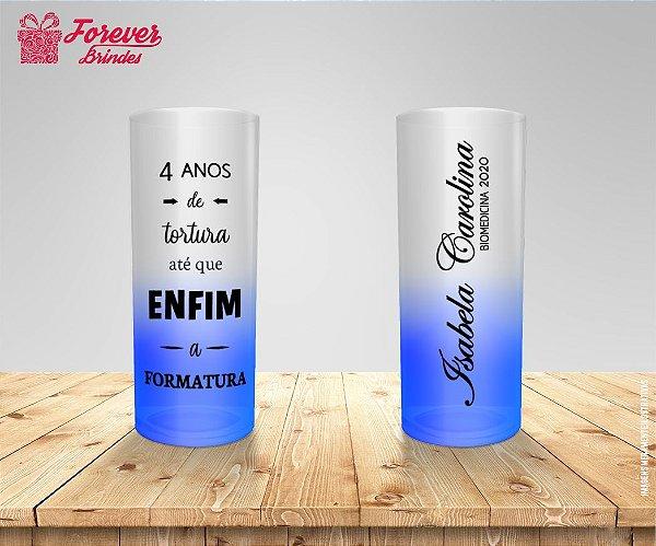 Copo Long Drink Degradê De Biomedicina
