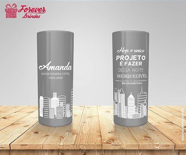 Copo Long Drink Cinza Formatura De Engenharia Civil