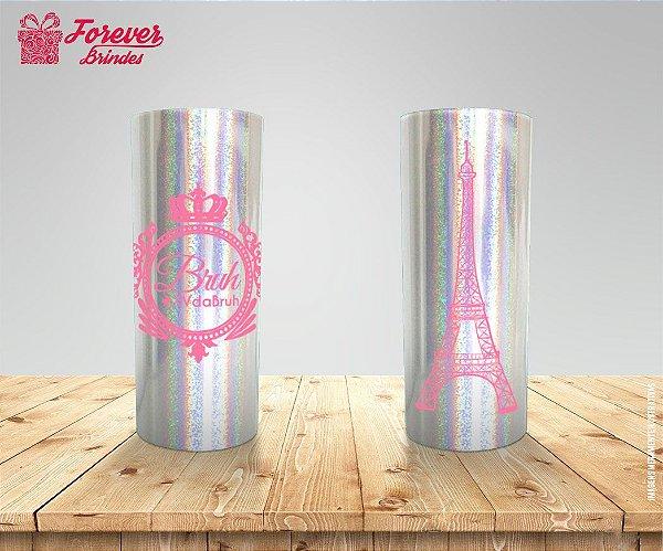 Copo Long Drink Holográfico De 15 Anos Torre Eiffel