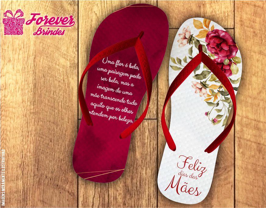 Chinelo Personalizado Mãe a Flor Mais Bela