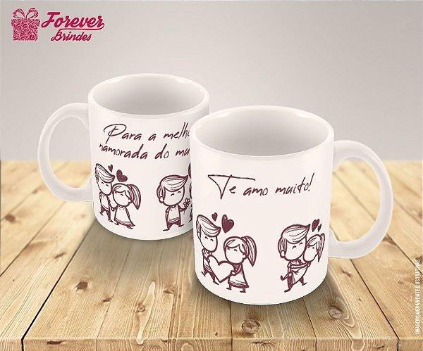 Caneca De Porcelana Para Melhor Namorada do Mundo