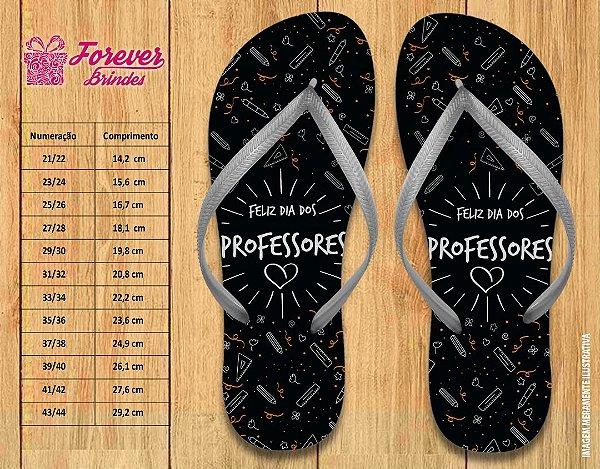 Chinelo Personalizado Dia Dos Professores