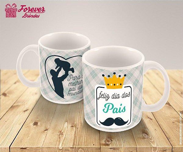 Caneca De Porcelana  Feliz dia dos Pais